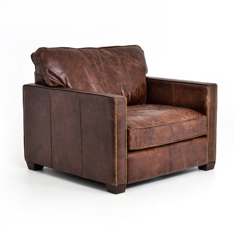 Clark Chair leather brown chair