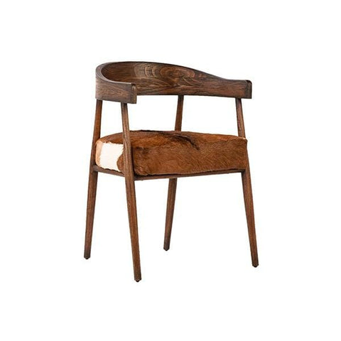 Costa Chair Goat Hide, Oak Wood