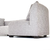 Crescent grey linen upholstery sectional 2 piece