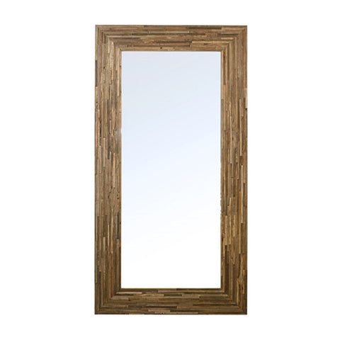 Elmwood Floor Mirror elmwood frame polished mirror interior modern style