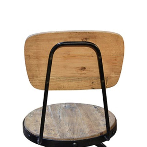 Ember adjustable wood and metal stool