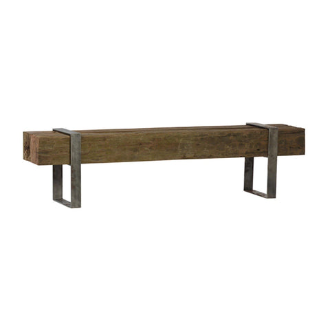 Track Bench reclaimed metal