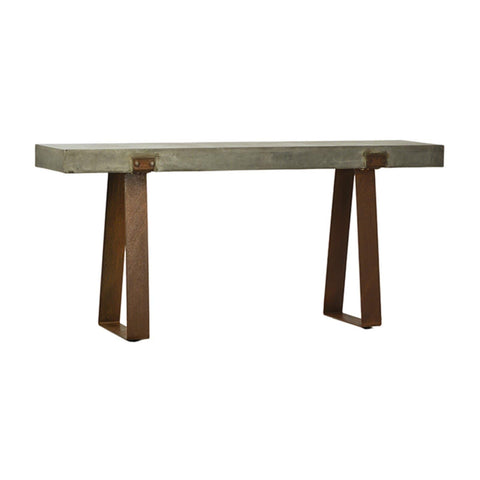 kade concrete industrial console table
