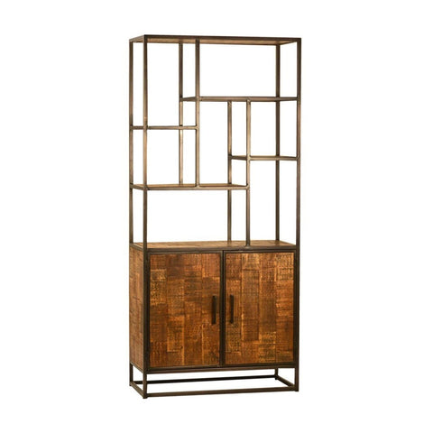Chelsea mango wood iron bookshelf