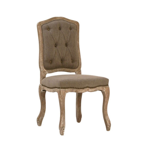 Marge Burlap Dining Chair