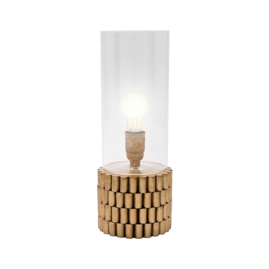 Brass Hurricane Table Lamp