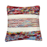 Multi-color wool pillow
