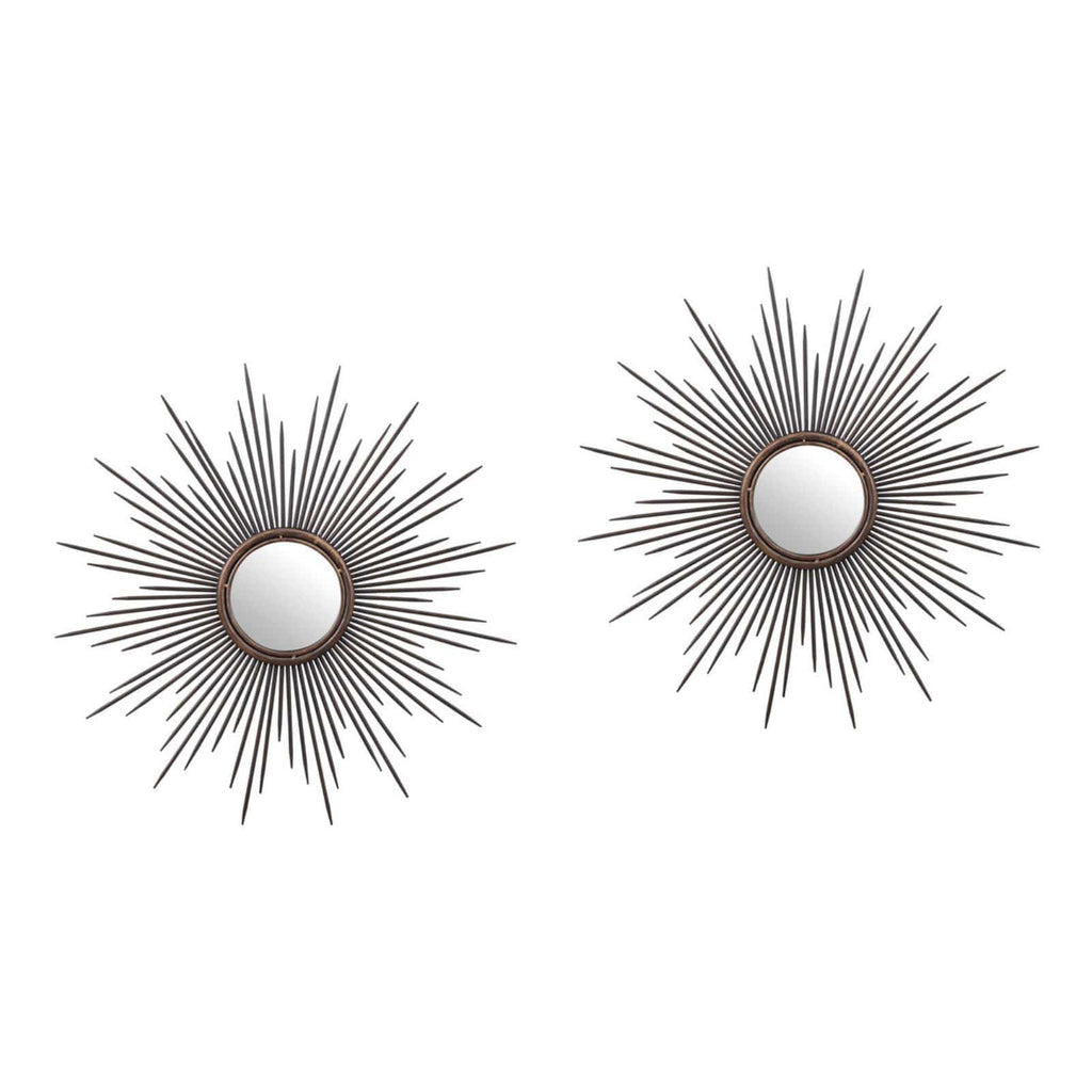 Regal sunburst wall mirrors