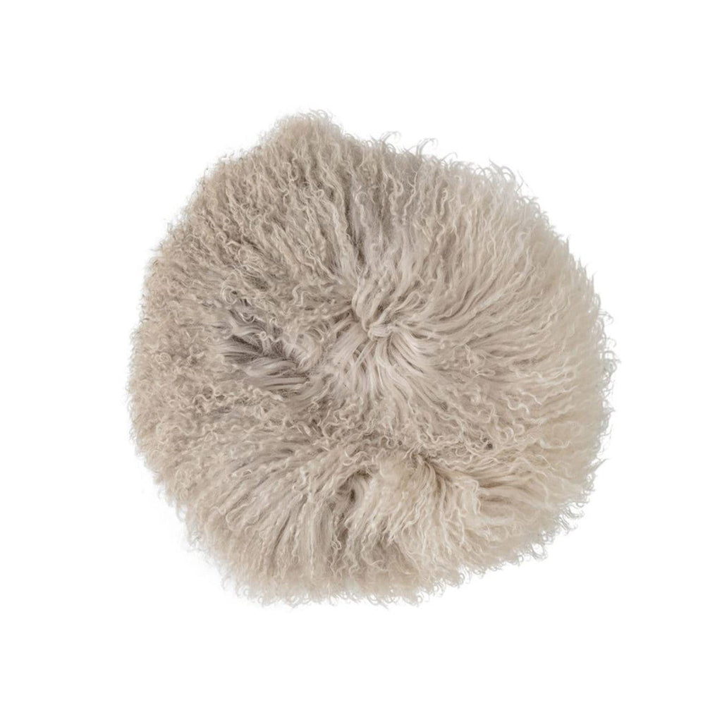 Round Fur Pillow