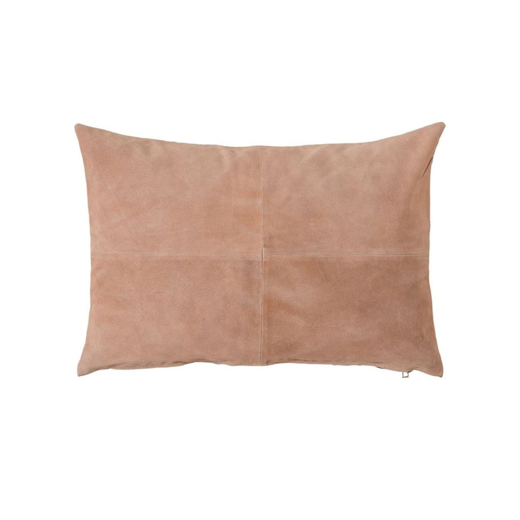 Salmon Suede Lumbar Pillow