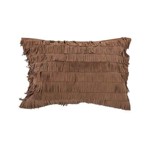 Suede Fringe Pillow