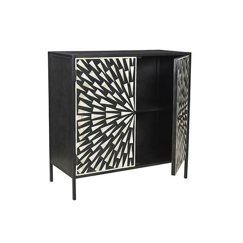 Dach File Storage Iron material black white aztec pattern doors front