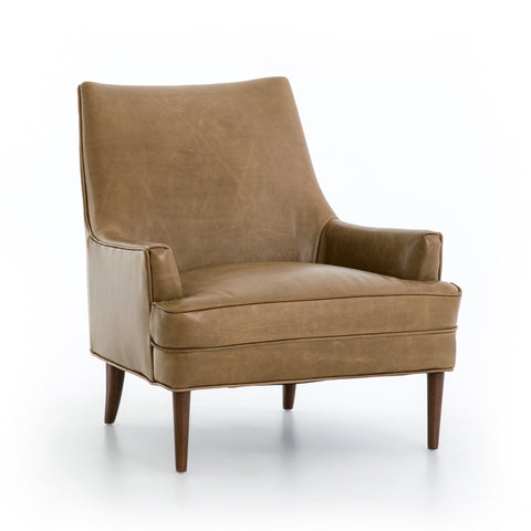 dante tan top grain leather occasional chair