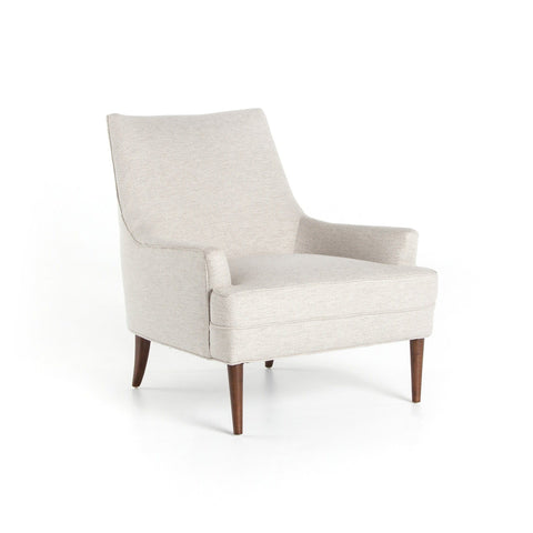 dante white upholstery midcentury occasional chair