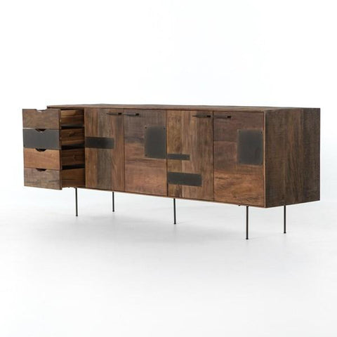 Darren Media Cabinet peroba wood