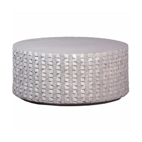 Drew concrete grey woven coffee table
