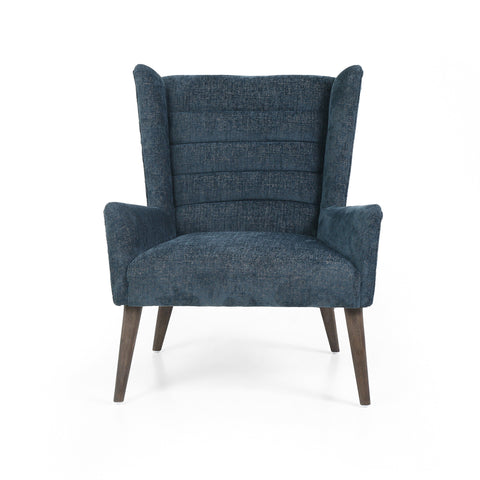 Eleanor Chair in Plush Azure Frontview
