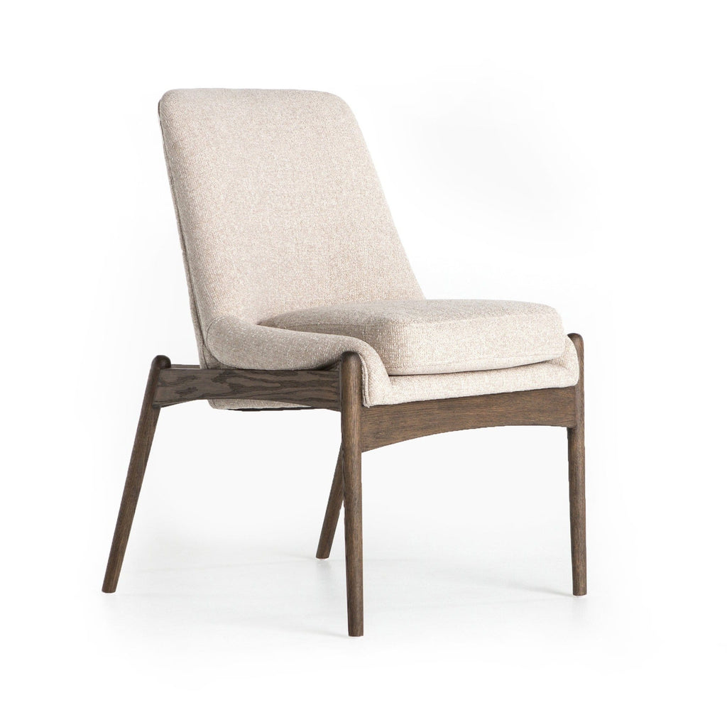 Elon Dining Chair polyester wood ivory brown
