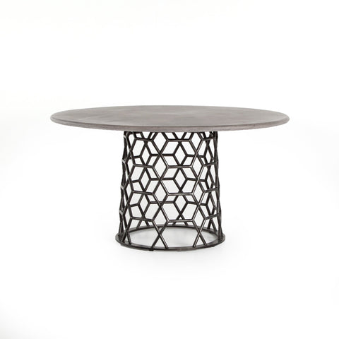 Emily round concrete dining table
