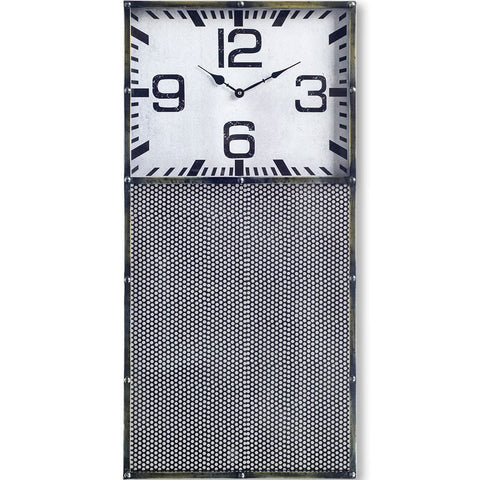 Farrell Clock metal rectangle