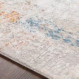 Giada Rug polyester white light grey caramel clay mustard aqua textile hand tufted close view