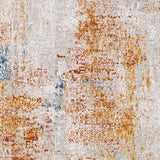 Giada Rug polyester white light grey caramel clay mustard aqua textile hand tufted close fabric view