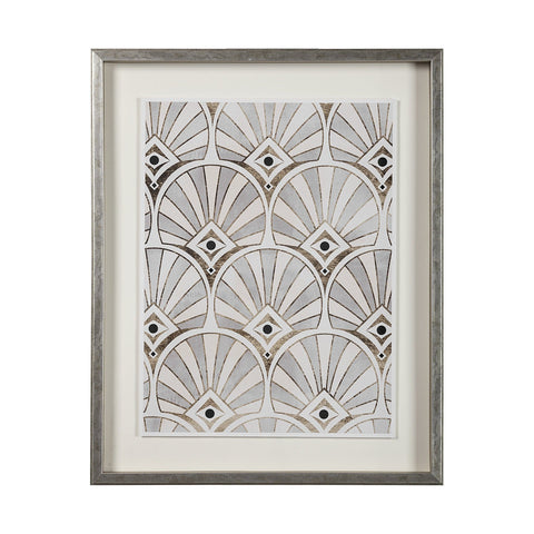 Gold Deco Artowrk grey frame gold white black canvas