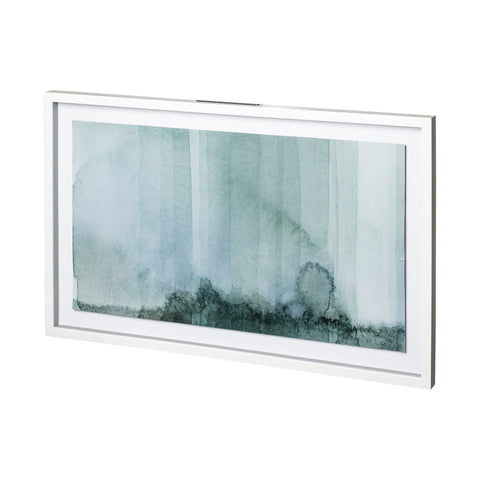 Green Hues Artwork green glass painting white wood frame