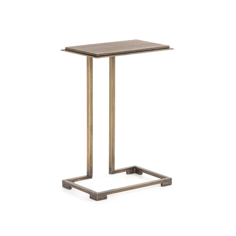 Hadley End Table Brass