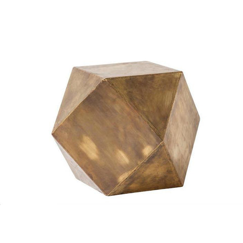 Hexagonal Sculpture brushed gold metal decor