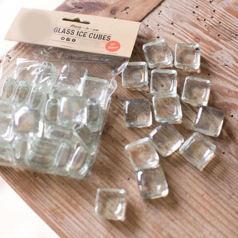 glass ice cubes