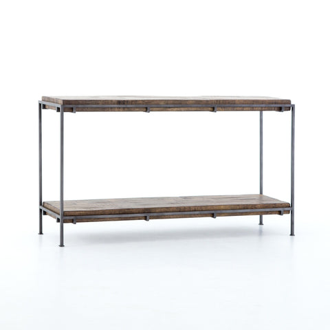 jensen mango wood iron console table