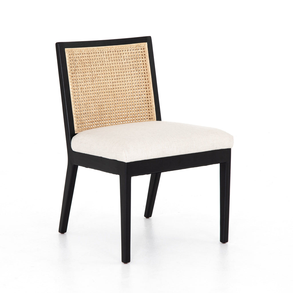 Juliet Armless Dining Chair ivory linen