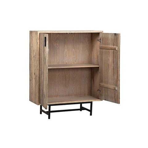 Keith File Storage natural heritage oak frame gunmetal black metal legs office cabinet