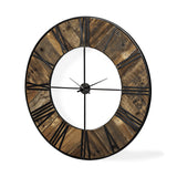 Kelsey Clock wall art wood metal