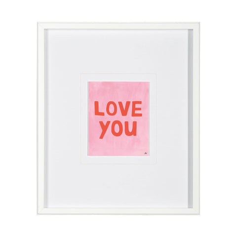 Love You Artwork pink red quote