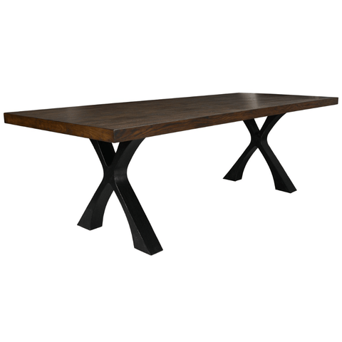 Lucca dining table cross legs oak metal