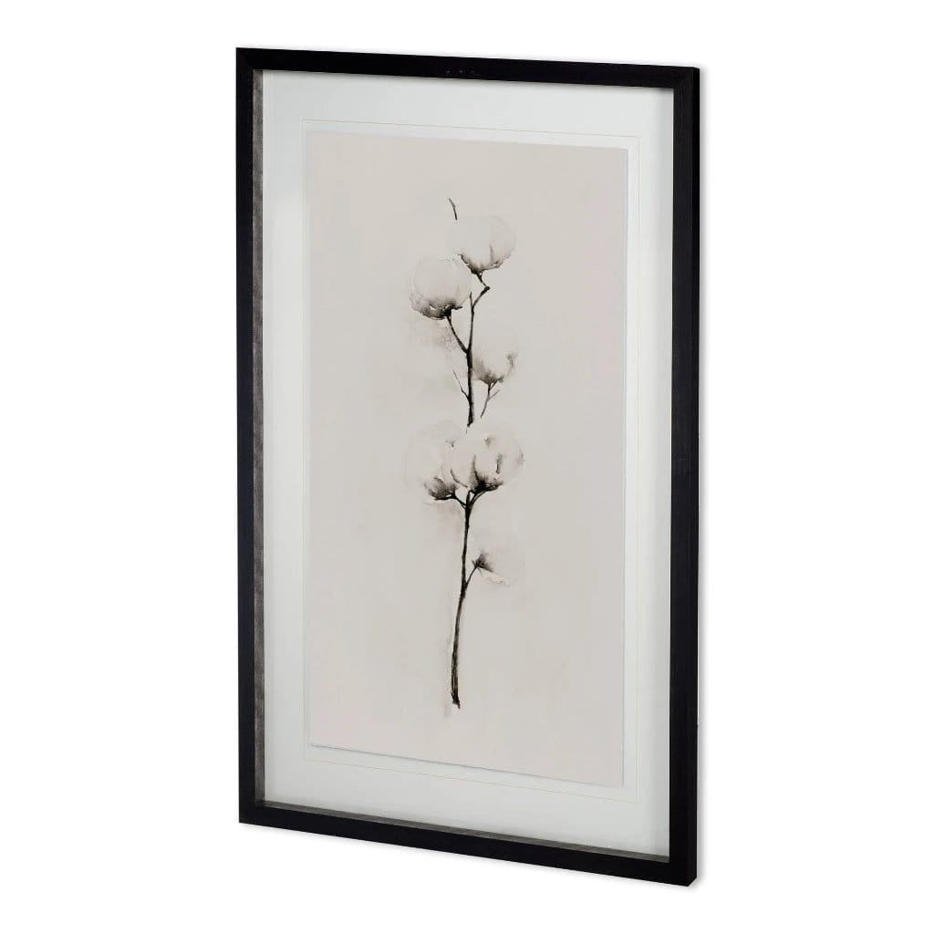 White Willow cream white painting black wood frame