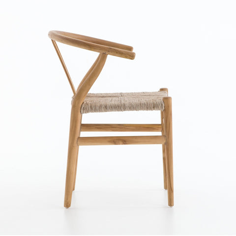 Malia Dining Chair made of natural teak wood with synthetic weaving
