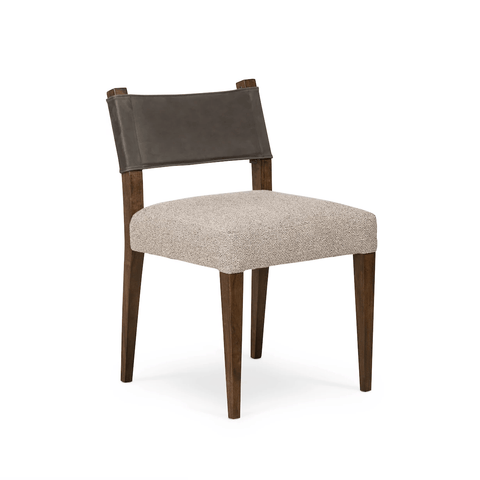 Matthew Dining Chair polyester wood top grain leather
