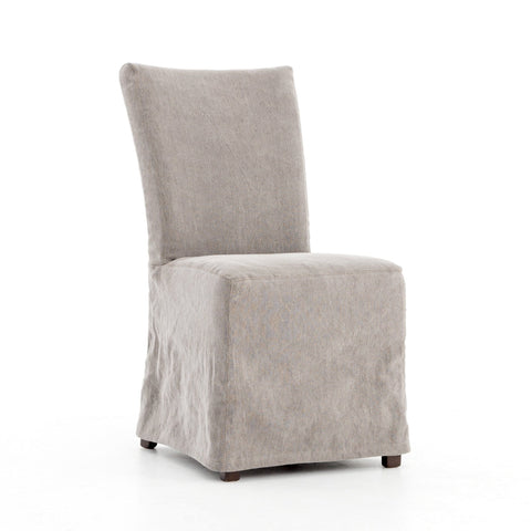Miley grey cotton jute slipcovered dining chair