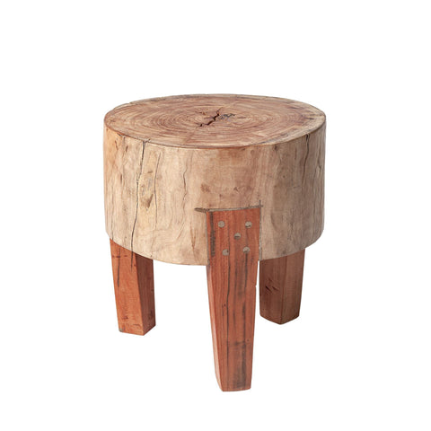 Milo End Table natural reclaimed wood piece nesting