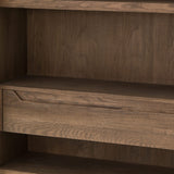 Norris Cabinet in Black Oak Interior Oak Shelving Detail