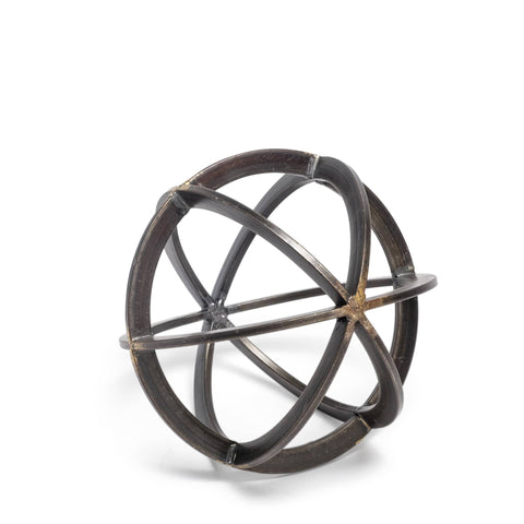 Orbital Sculpture industrial modern item metal gunmetal bronze