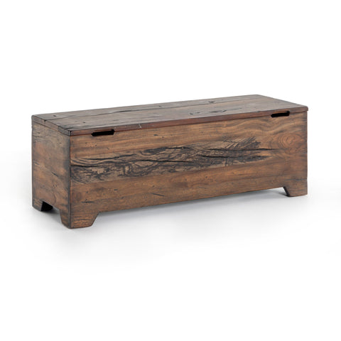 Pala Trunk made of reclaimed wood in belgium brown finish