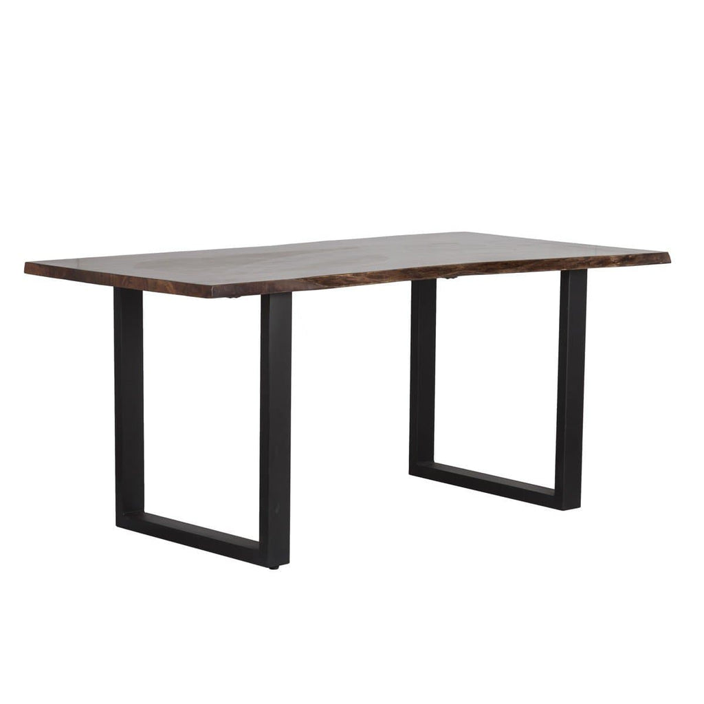 Ross Dining Table Brown Beam Furniture Decor