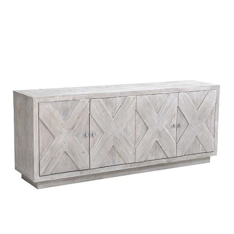 Sadona Sideboard powder white reclaimed wood finish x design modern style