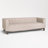 Richards ivory tufted upholstery metal sofa