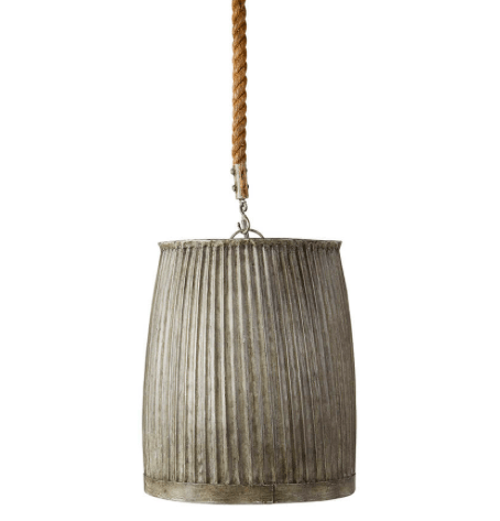 Atwell Farmhouse Pendant rustic metal