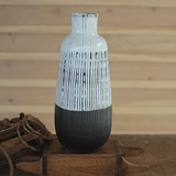 grey and white ceramic vase
